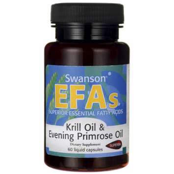 Swanson Krill Oil & Evening Primrose Oil 60 Liq Caps
