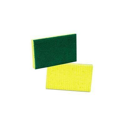 Scotch-Brite Industrial - Medium-Duty Scrubbing Sponge, 3 1/2 x 6 1/4, Yellow/Green - 20/Carton