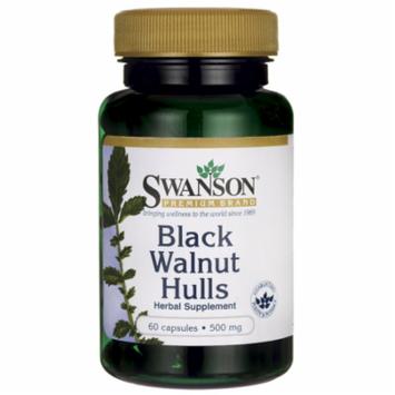 Swanson Black Walnut Hulls 500 mg 60 Caps
