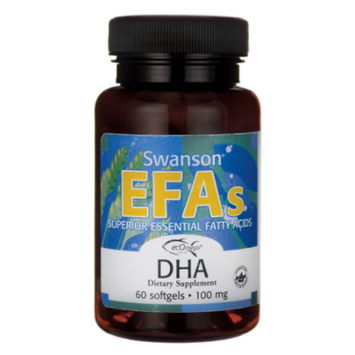 Swanson Ecomega Dha Fish Oil 100 mg 60 Sgels