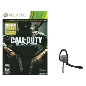 Xbox 360 Game BLKOPS+Gioteck Headset