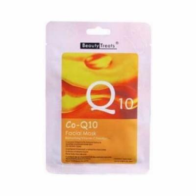 (3 Pack) BEAUTY TREATS Facial Mask Refreshing Vitamin C Solution - Co-Q10