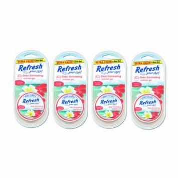 4-Pack Refresh your Car Gel Can 2.5 oz Hawaiian Sunrise Car Air Freshener