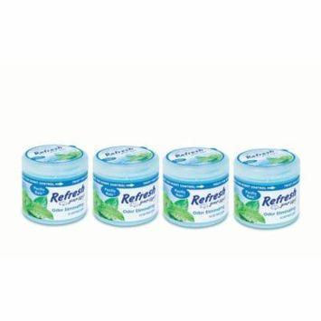 4-Pack Refresh Your Car 4.5 oz Gel Can Pacific Rain Car Air Freshener