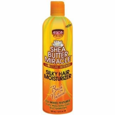 African Pride Shea Butter Miracle Silky Hair Lotion 12 oz. (Pack of 2)