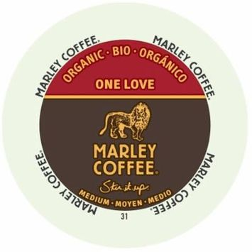 Marley Coffee One Love, Medium - Organic, RealCup Portion Pack For Keurig Brewers, 144 Count