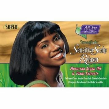 At One with Nature Botanicals StrongEnds Sensitive Scalp Relaxer- Super Kit