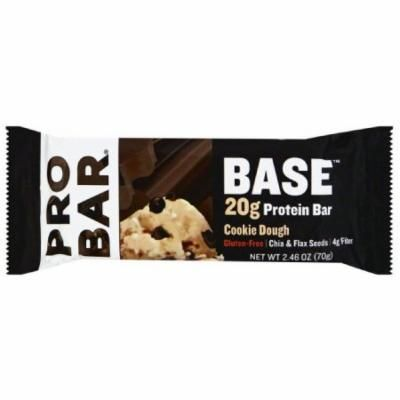 Pro Bar Protein Bar, Cookie Dough, 2.46 OZ (Pack of 12)