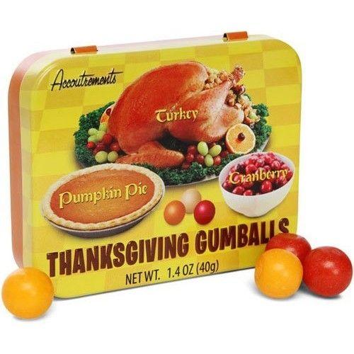 Melissa's Combo Gift Pack of 5: Thanksgiving Gumballs- Turkey, Cranberry, & Pumpkin Pie Flavored Gum
