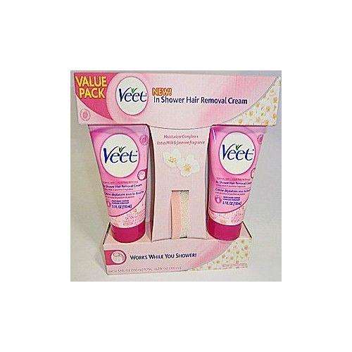 Veet in Shower Hair Removal Cream Value Pack