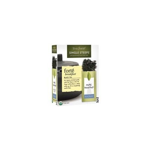 Tea Forte Tea, 100% Organic, Forte Brkfst, Sng, 12 ct (pack of 6 )