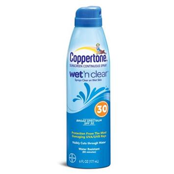 Coppertone Wet & Clear Spray