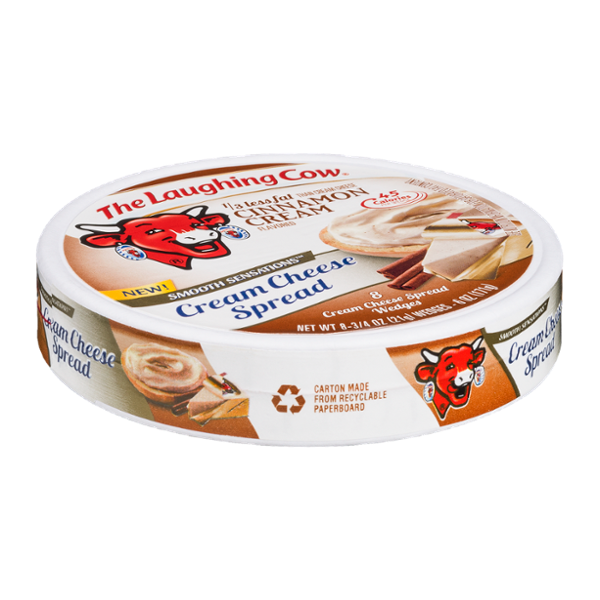 The Laughing Cow Smooth Sensations Cream Cheese Spread Cinnamon Cream - 8 CT