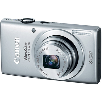 Canon PowerShot ELPH 115 IS16MP Digital Camera (Silver)