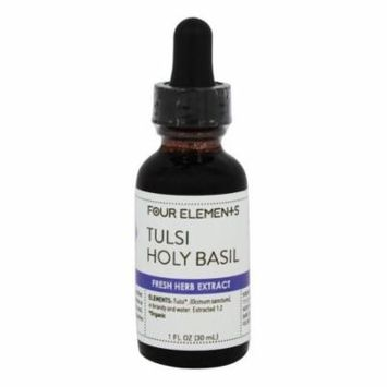 Four Elements Herbals - Fresh Herb Extract Tincture Tulsi Holy Basil - 1 oz.