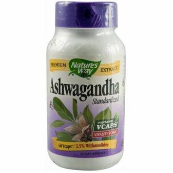 Nature's Way Ashwagandha Vegetarian Capsules, 60 CT