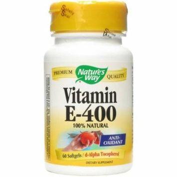 Nature's Way Vitamin E 400 Iu, Softgels, 60 CT
