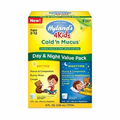Hyland's 4 Kids Cold and Cough Day and Night Value Pack, Natural Common Cold Symptom Relief, 8 Fluid Ounce