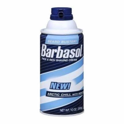 2 Pack - Barbasol Arctic Chill Thick & Rich Shaving Cream 10oz Each