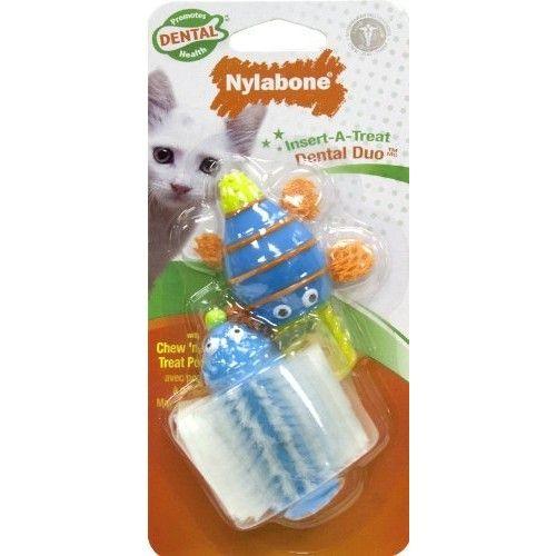 Nylabone Cat Dental Insert-A-Treat Dental Duo Treat Holder