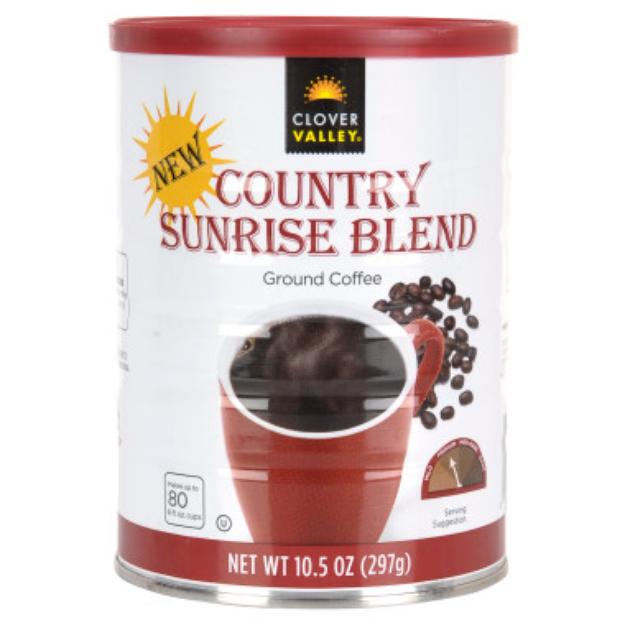 Clover Valley Country Sunrise Blend Ground Coffee - Medium Roast - 10.5 oz