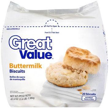 Great Value Buttermilk Frozen Biscuits, 41.6 oz