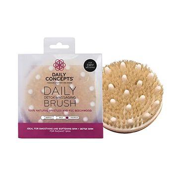 Daily Concepts Your Detox Massaging Brush 100% Natural Bristles Vigorous