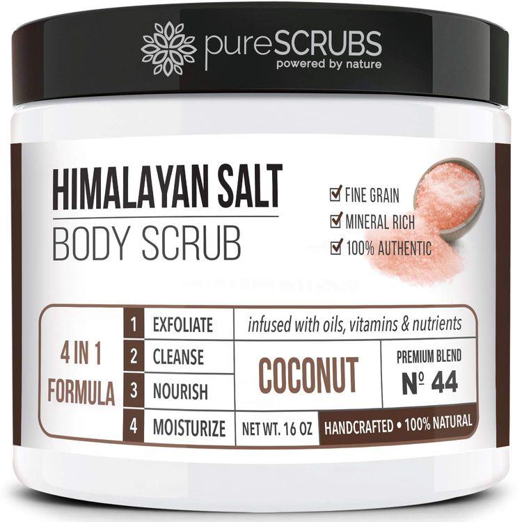 pureSCRUBS Premium Pink Himalayan Salt Body Scrubs