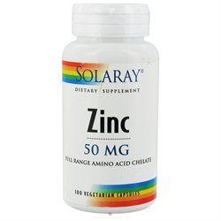 Solaray Zinc - 50 mg - 100 Vegetarian Capsules