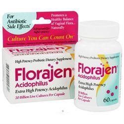 Florajen Acidophilus Probiotic Capsules, 60 caps