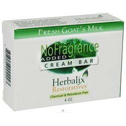 Herbalix Restoratives - Fresh Goat's Milk Cream Bar Soap No Added Fragrance - 4 oz.