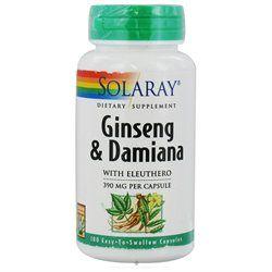 Solaray Ginseng and Damiana - 380 mg - 100 Capsules