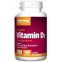Jarrow Formulas Vitamin D3 - 5000 IU - 100 Softgels