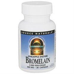 Source Naturals Bromelain 2000 Gdu 500MG - 30 Capsules - Enzymes