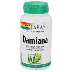 Solaray Damiana Leaves - 370 mg - 100 Capsules