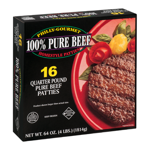 Philly-Gourmet 100% Pure Beef Homestyle Patties