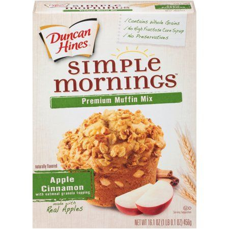 Duncan Hines Simple Mornings Apple Cinnamon with Oatmeal Granola Topping Muffin