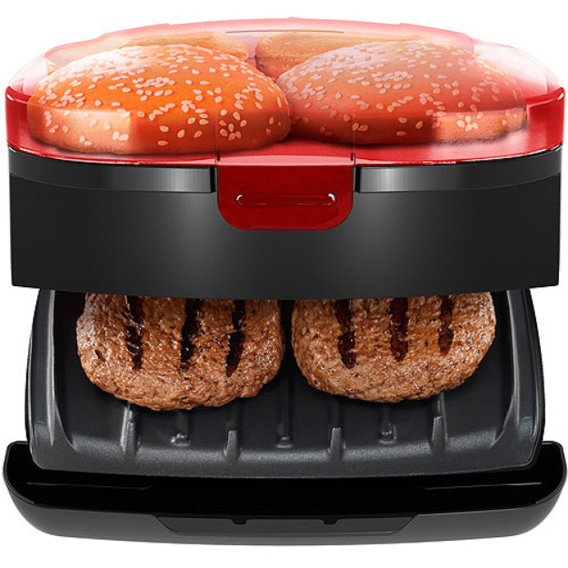 George Foreman 5-Minute Burger Grill with Bun Warmer