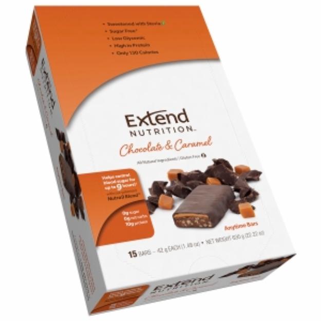 Extend Bar Anytime Bars, Chocolate & Caramel, 15 ea