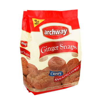 Archway  Home Style Ginger Snaps Crispy Snacking Cookies