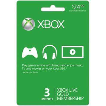 Microsoft® Xbox Live Gold 3 Months