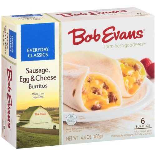 Bob Evans Sausage Egg & Cheese Burrito Sandwiches, 6ct