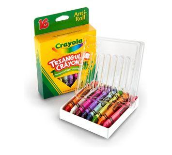 Crayola Anti-Roll Triangular Crayons 16 Count