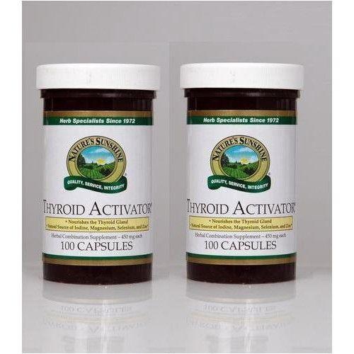 Nature's Sunshine Naturessunshine Thyroid Activator Support Thyroid Gland HerbalCombination Supplement 100 Capsules (Pack of 2)