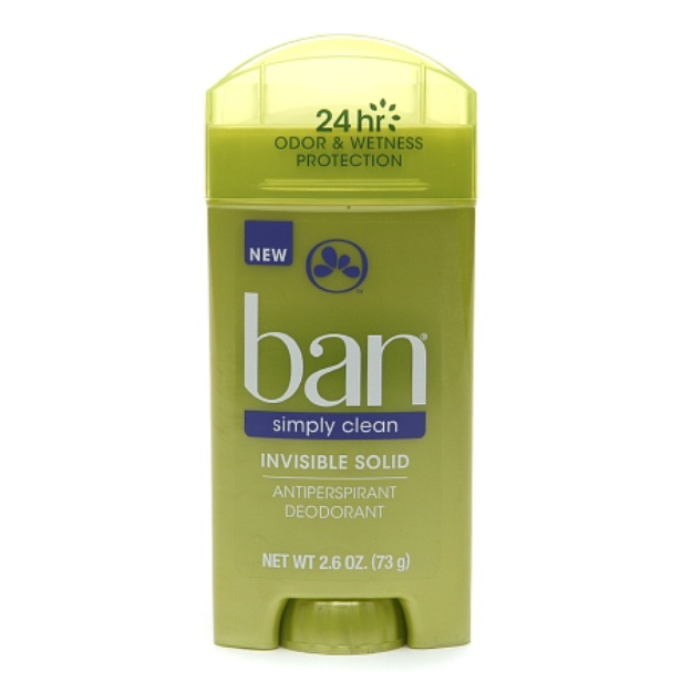 Ban Simply Clean Invisible Solid Antiperspirant & Deodorant