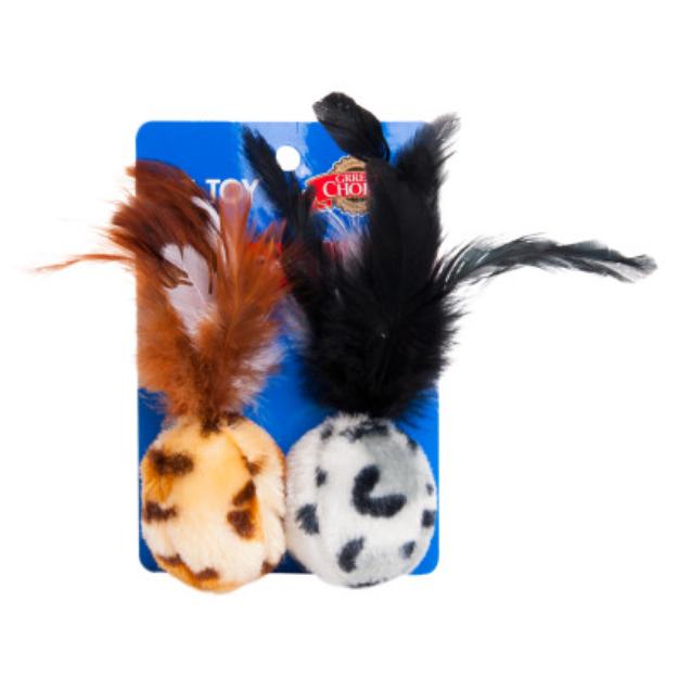 Grreat ChoiceA Safari Feather Ball Cat Toy