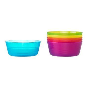 Ikea Kalas 301.929.60 BPA-Free Bowl, Assorted Colors, Set of 2, 6-Pack [set of 2]