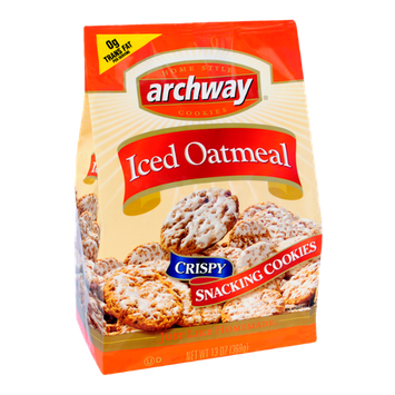 Archway Iced Oatmeal Crispy Snacking Cookies