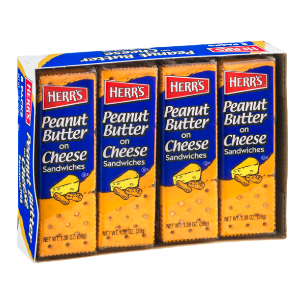 Herr's® Peanut Butter on Cheese Sandwiches
