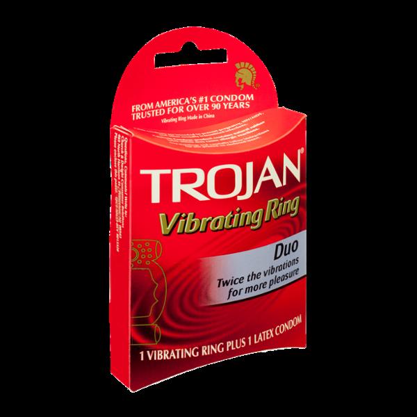 TROJAN™ Duo Vibrating Ring Plus Latex Condom